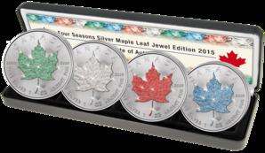 Maple Leaf Silbermünzen Jahreszeiten 2015