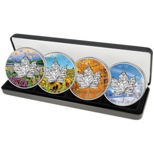 Maple Leaf Silbermünzen Jahreszeiten 2013