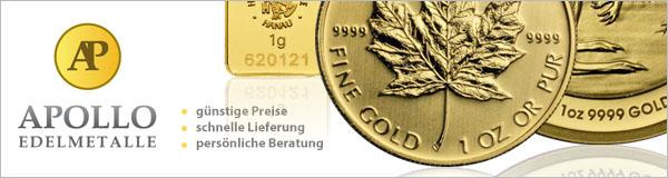Goldmünzen und Silbermünzen bei Apollo Edelmetalle kaufen