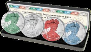 American Eagle Silbermünzen Jahreszeiten 2015